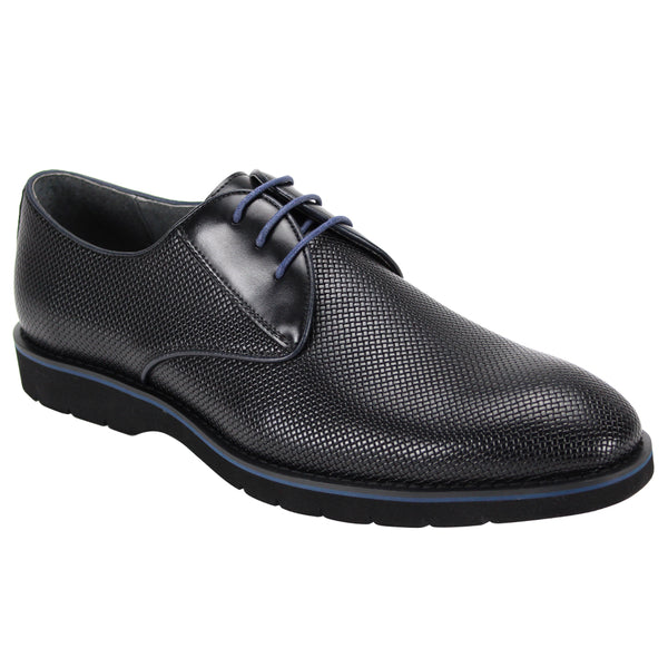Steven Land Shoes | Harry Cushioned Oxfords | Black