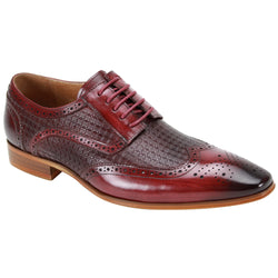 Steven Land Shoes | Ombre Leather Wingtip Derby Dress Shoe | Burgundy