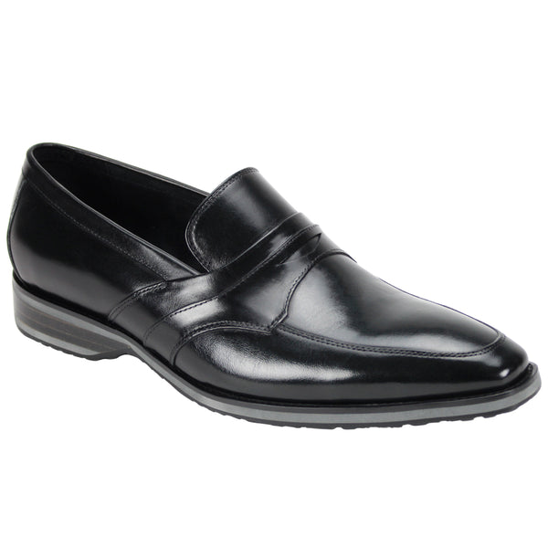 Steven Land Shoes | Italian Penny Leather Loafer | Black