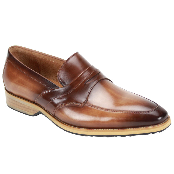 Steven Land Shoes | Italian Penny Leather Loafer | Latte