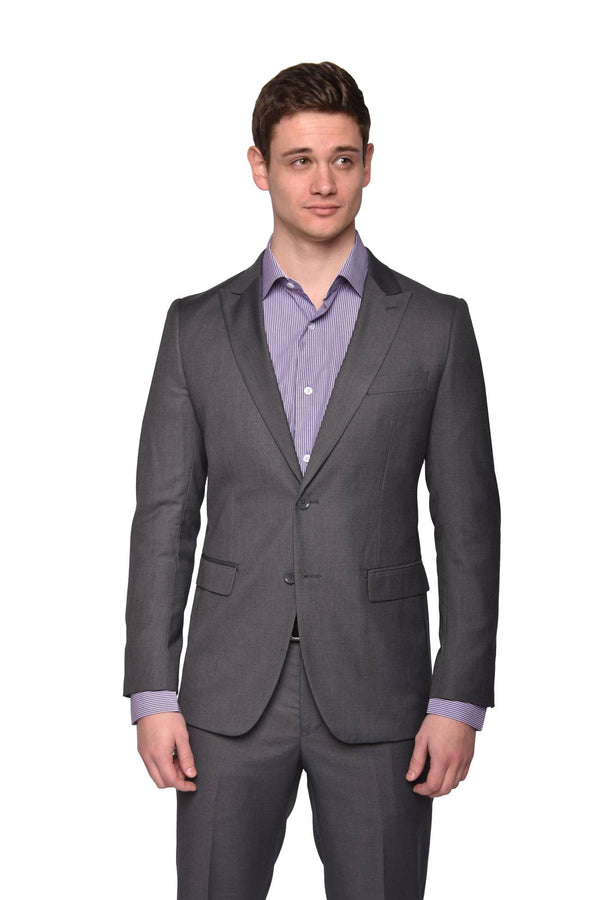 STEVEN LAND | The Bankers Suit | Solid Grey Dante
