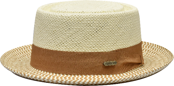 Steven Land Hats | Diplomat Natural Braid Telescope | Ivory