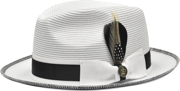 Steven Land Hats | Manhattan Natural Braid Fedora | White