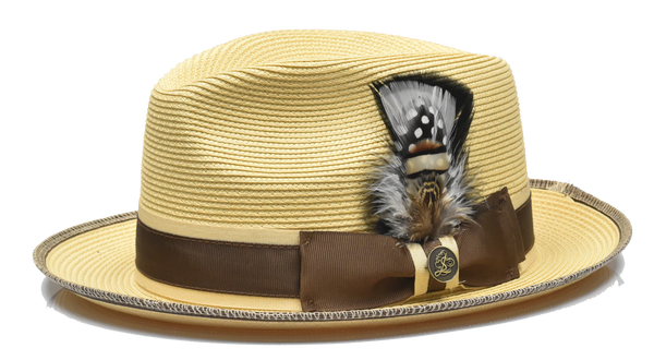 Steven Land Hats | Manhattan Natural Braid Fedora | Natural