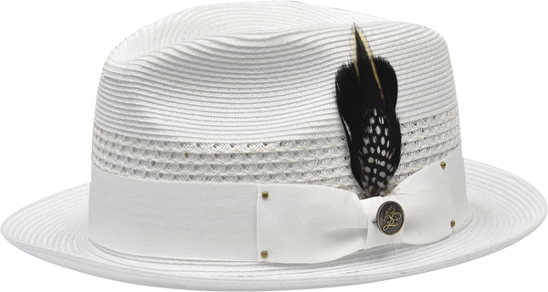 Steven Land Hats | Metropolitan Natural Milan Hemp Fedora | White