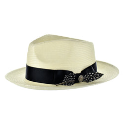 Steven Land Hat | Milan Collection | Light Natural/Black