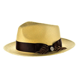 Steven Land Hat | Milan Collection | Dark Natural/ Brown