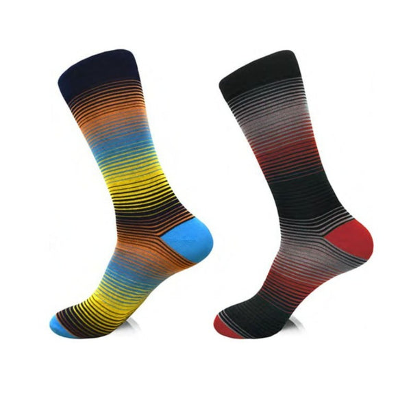 Steven Land | Holly Stripe | Cotton Blend Dress Socks | Pack Of 2