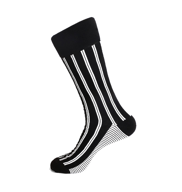 Steven Land | Pin Up Stripes | Cotton Blend Dress Socks | Pack Of 4