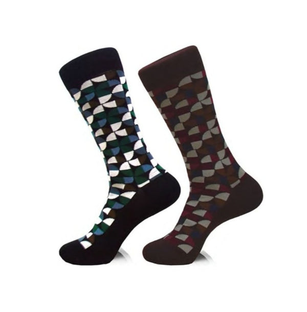 Steven Land | Mod Art | Cotton Blend Dress Socks | Pack Of 2