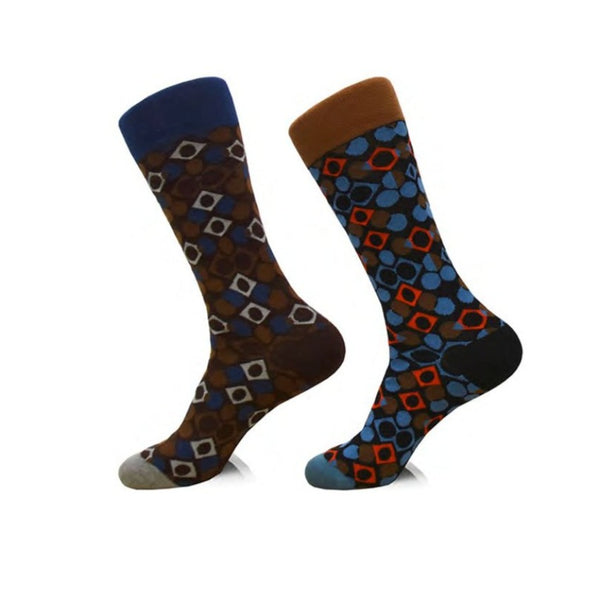 Steven Land | Telescope | Cotton Blend Dress Socks | Pack Of 2