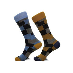 Steven Land | Architect | Cotton Blend Dress Socks | Pack Of 2