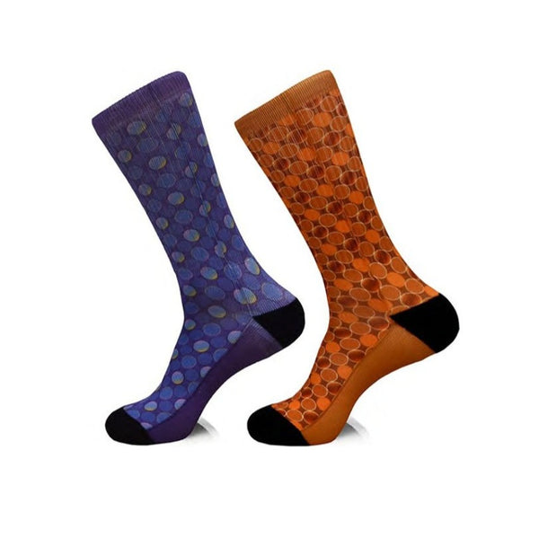 Steven Land | The Grid | Cotton Blend Dress Socks | Pack Of 2
