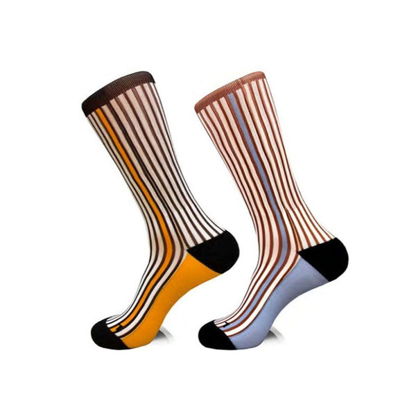 Steven Land | Surprise Stripe | Cotton Blend Dress Socks | Pack Of 2