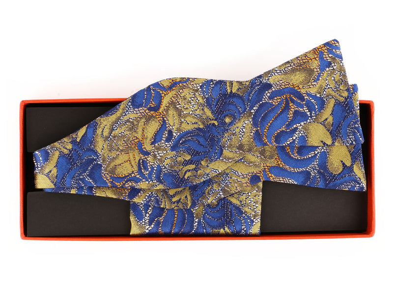 Steven Land 100% Silk  Self Bow Tie and Hanky Set | STBW1902