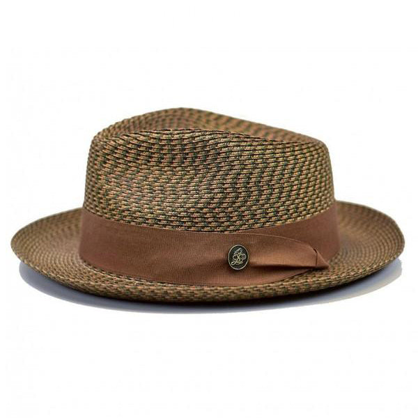Steven Land Hat | Bel-Air Collection | 100% Natural Milan Hemp | Rust