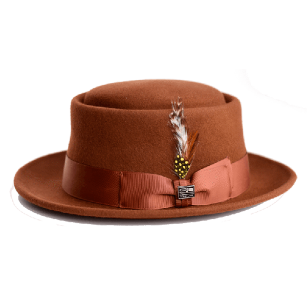 Steven Land Hat Calvin Collection Color Cognac Brown