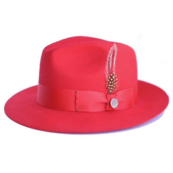 Steven Land Hats | Castro Collection | 100% Wool | Red