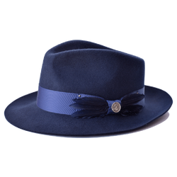 Steven Land Hats | Florence Collection | 100% Wool | Navy Blue