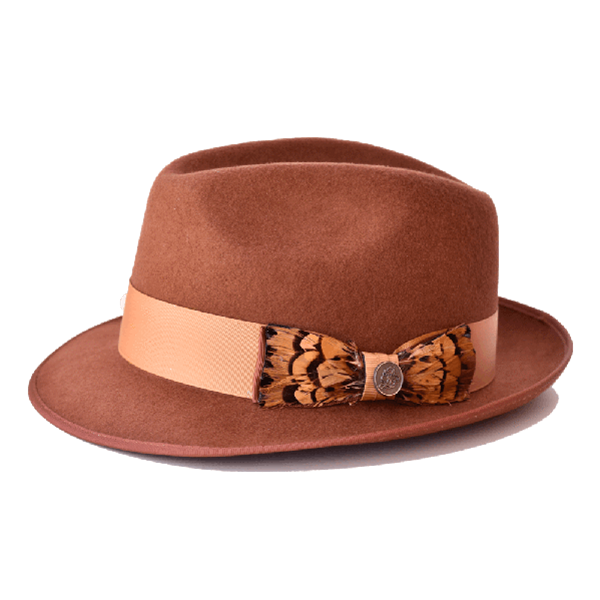 Steven Land Hats | Giuliano  Collection | 100% Wool | Brandy Brown