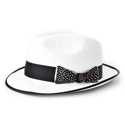 Steven Land Hat Guilano Collection  Color Winter White