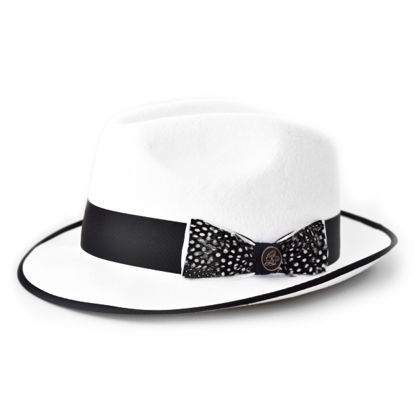 Steven Land Hat Guilano Collection  Color Winter ( Ivory ) White