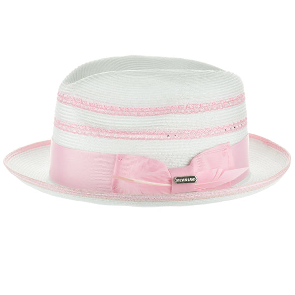 Steven Land Elite Hat Roman Collection Color White/Light Pink