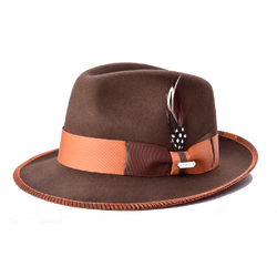 Steven Land Hats | Saverio Collection | Mink Brown/Rust