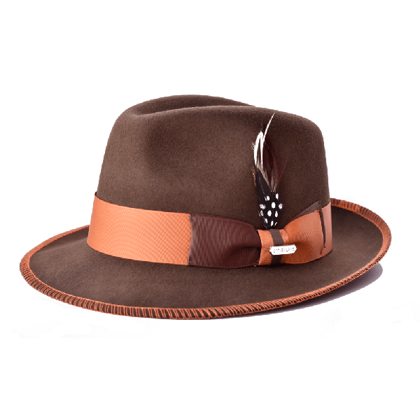 Steven Land Hat Saverio Collection Color Mink Brown/Rust