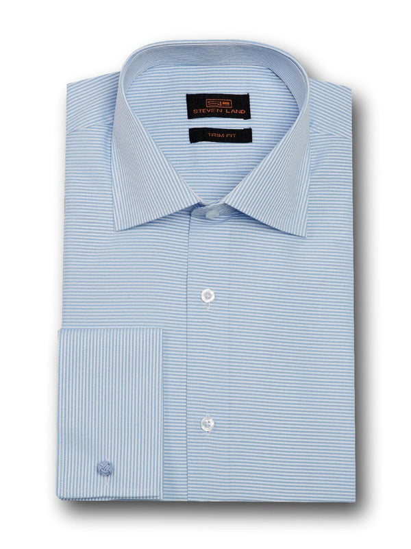 Dress Shirt | TA1720 | Classic Fit | 100% Cotton | Wide Spread Collar | French Square Cuff | Blue