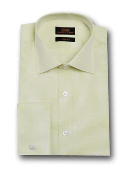 Dress Shirt | TA1720 | Classic Fit | 100% Cotton | Wide Spread Collar | French Square Cuff | Yellow