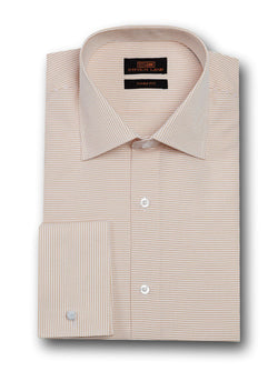 Dress Shirt | TA1720 | Classic Fit | 100% Cotton | Wide Spread Collar | French Square Cuff | Sand