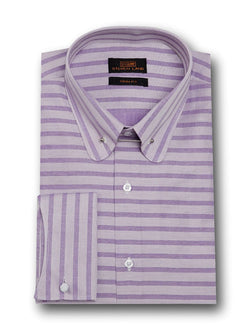 Dress Shirt | TA1721 | Classic Fit | 100% Cotton | Club Collar with Collar Bar | Curved French Cuff | Purple