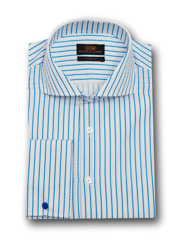 Trendy Checkerboard Dress Shirt | Blue | TA1737