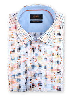 Watercolor Dress Shirt | Blue | TA1801