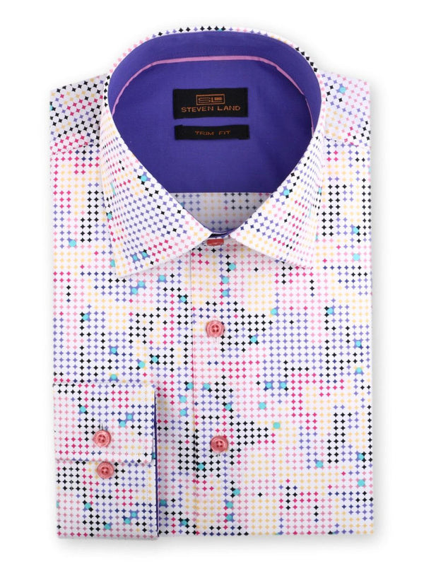Dress  Shirt | TA1801 | 100% Cotton | Trim Fit | French Cuff | Wide Spread Collar | Multi