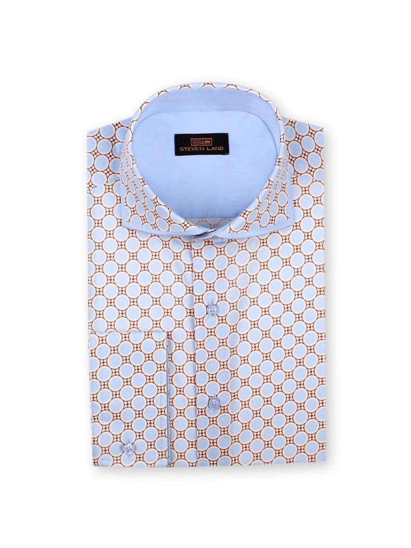 Dress Shirt | TA757 | Trim Fit | 100% Cotton | Spread Collar | Convertible Cuff | Blue