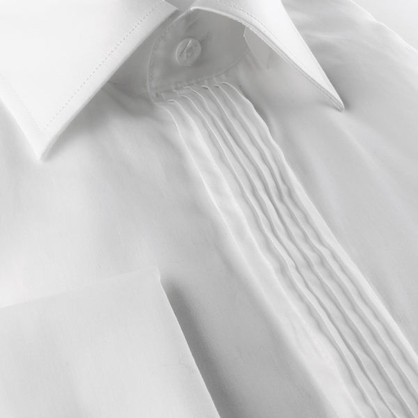 Steven Land | Sharp Pleat Tuxedo Dress Shirt | Color White