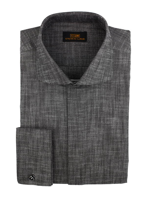 Steven Land | Cotton Lurex Dress Shirt | Color Silver