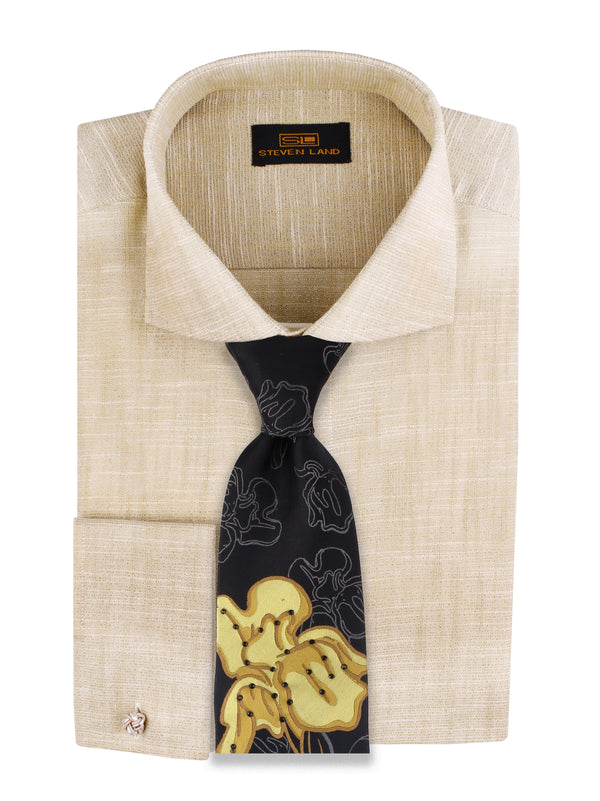 Steven Land | Cotton Lurex Dress Shirt | Color Champagne