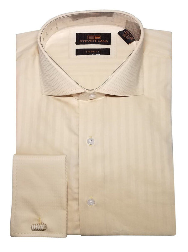 Geometric Jacquard Dress Shirt | Cream | TW634
