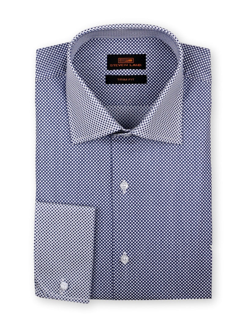 Dress Shirt | TW716 | Contrast Collar and Cuffs | Spread Collar | French Round Cuffs