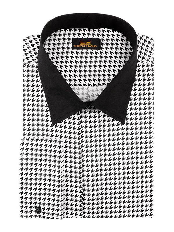 Steven Land | 80's Houndstooth Dress Shirt