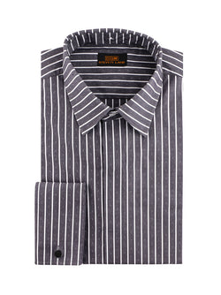 Steven Land | 3 In 1 Dress Shirt | Interchangeable Collars | Color Black
