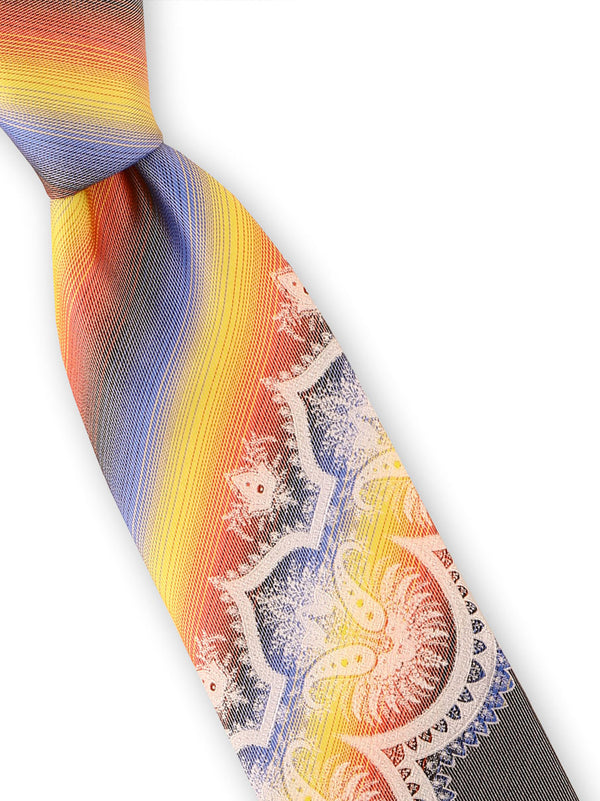 Steven Land | Sunshine Ripples Silk Tie | Big Knot | W228