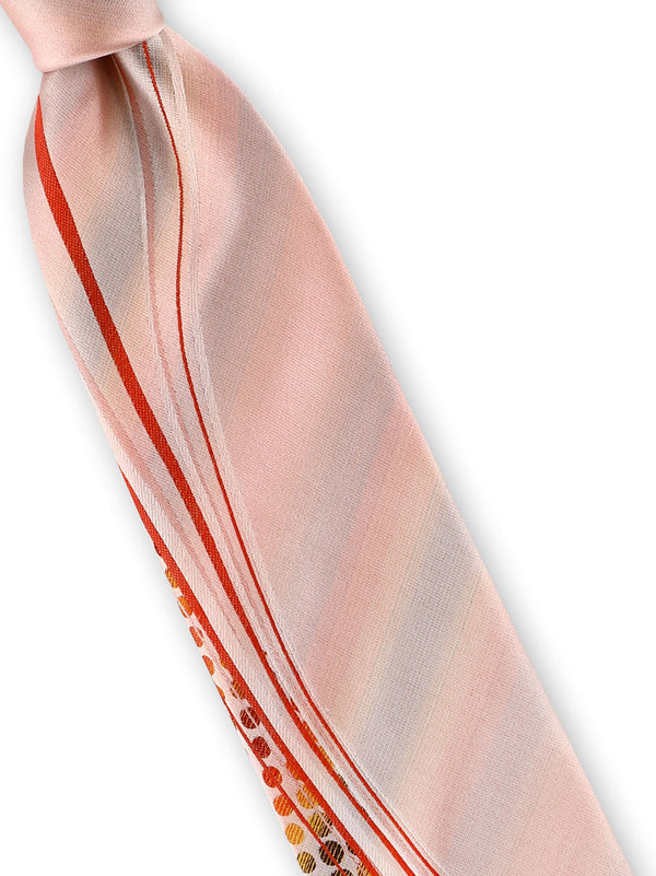 Steven Land | Two Tone Silk Tie | Big Knot | W231