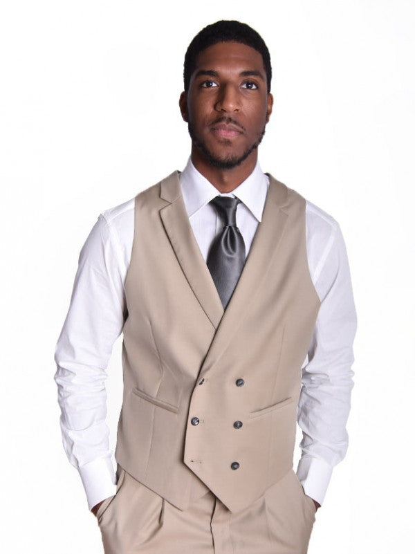 Steven Land | Angelo 3 Piece Wool Suit | Classic Fit | Tan