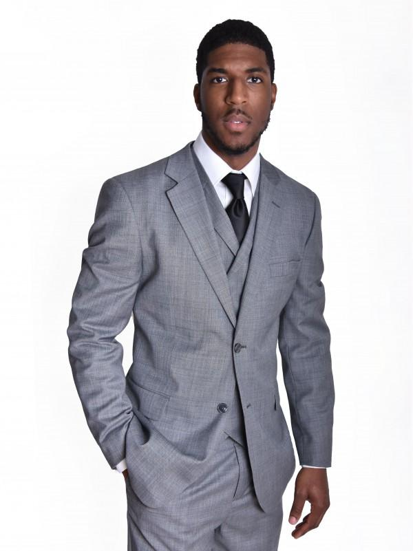 Steven Land | Angelo 3 Piece Wool Suit | Classic Fit | Color Medium Grey