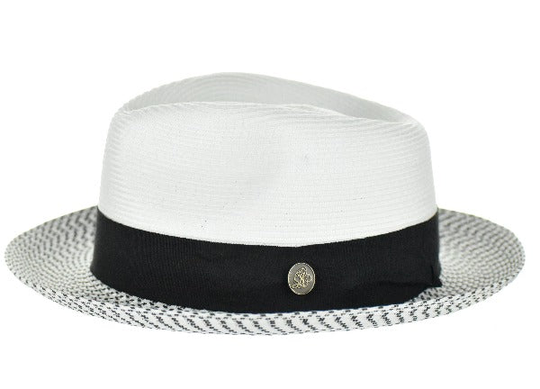 Steven Land Hat Bel-Air Collection Color White/ Black Multi