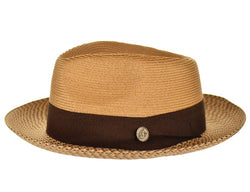 Steven Land Hat Bel-Air Collection Color Cognac/Brown Multi